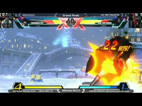 The Break #155 - UMvC3 GF - Juice.Zucco VS AG MCZ MarlinPie