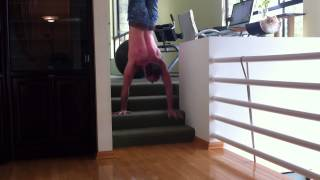 Tari Mannello Walks Straight up Stairs on his Hands - and then back down