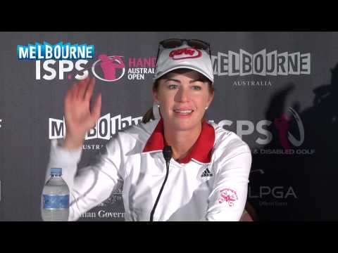 Paula Creamer Tuesday Press Conference 2014 ISPS Handa Women's Aus Open