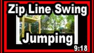 Backyard Zip Lining And Swing Jumping Wisconsin Garden