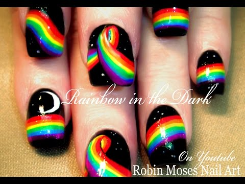 Rainbow in the Dark Nails