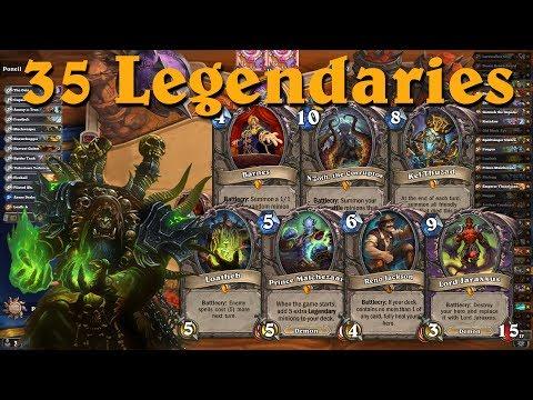 Hearthstone: 35 Legendary Warlock Constructed -Wild