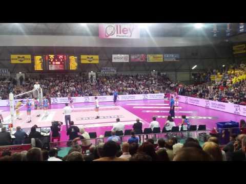 Copertina video Piacenza-Conegliano, ultimo punto di gara3 e l'esultanza del PalaBanca