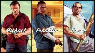 Grand Theft Auto V Michael. Franklin. Trevor. Trailer