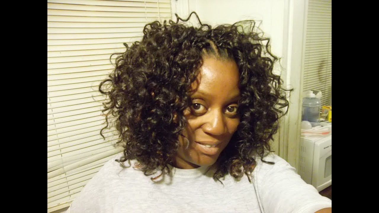 Gogo Curl Crochet Braids with Hair
