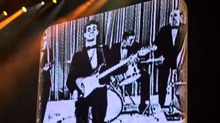 Sir Paul McCartney live concert Lubbock, Texas signs aTribute to Buddy Holly