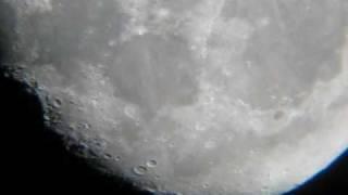 La Luna Con Telescopio Astronomía