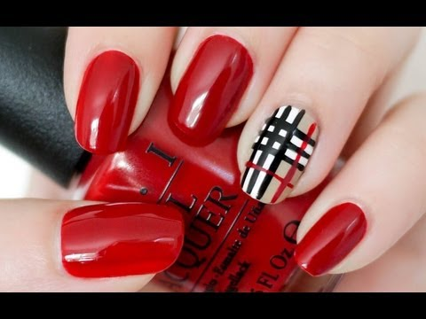 Burberry Inspired Nail Tutorial