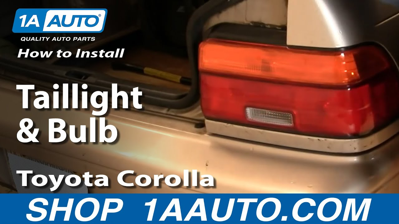 How To Install Replace Taillight And Bulb Toyota Corolla