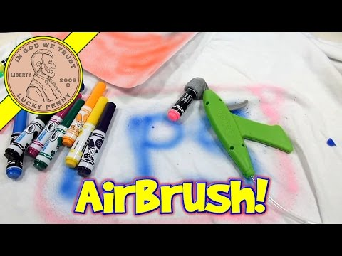 Crayola Marker Airbrush Set - Turn Markers Into Spray Art!