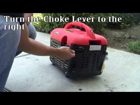 HOW TO START Portable 2000 Watt EPA Emergency Generator Gas 4 Stroke Gasoline Camping RV