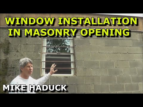 How I Install A Replacement Window In A Masonry Opening