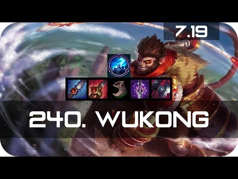 Wukong Jungle vs Nidalee Season 7 s7 Patch 7.19 2017 Gameplay Guide Build Normals
