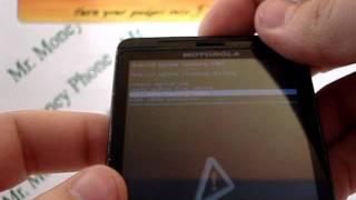 Motorola Droid X (External) HARD RESET Wipe Data Master