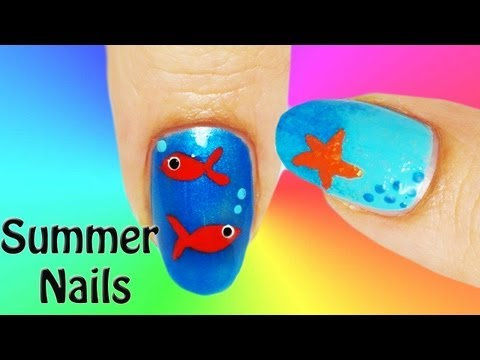 2 Summer Nail Art Tutorial ESTATE