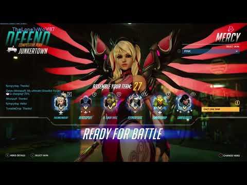 Overwatch XBOX ONE - Multiplayer Competitive Pink Mercy & Zenyatta Match On Junkertown 4 -Season 12