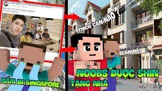 SHIN-CHAN MUA NHÀ CHO NOOB VÌ NẤM BỎ NOOB ĐI SINGAPORE !!! ( Minecraft Shin Cậu bé bút chì )