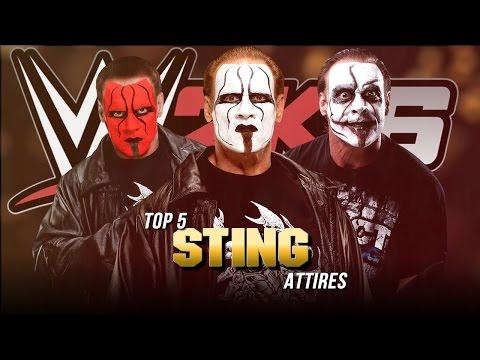 WWE 2K16 - Top 5 Sting Attires (WWE/WCW Nitro/TNA iMPACT!)