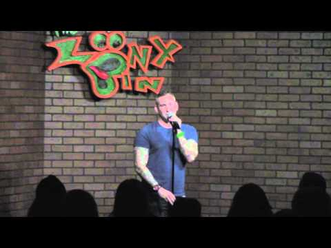 Eric Himan entering the Stand-Up Open Mic Competition at The Loony Bin (Tulsa, OK)