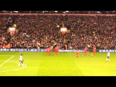 Suarez Freekick Goal Liverpool vs Norwich 5-1