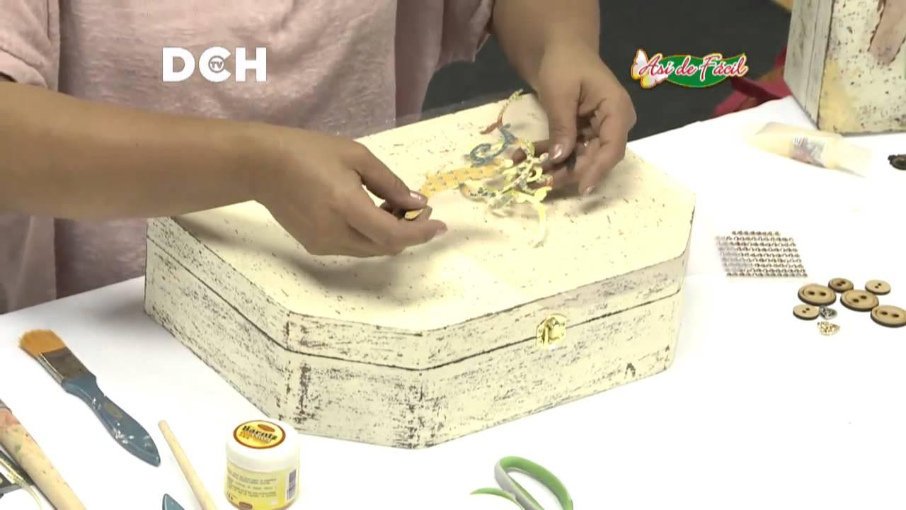 Maleta vintage luisa donoso youtube - Como decorar cajas de madera estilo vintage ...