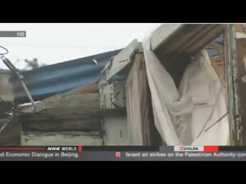 Japan Typhoon & Fukushima Ice Wall Update 7/9/14