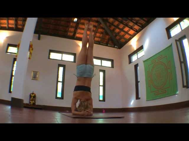 Yoga Headstand, Urdhva Sirasana with Kino in Goa