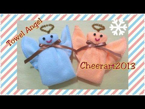 Diy Christmas : towel angel - Diy Karácsonyi angyal készítése  törölközőből