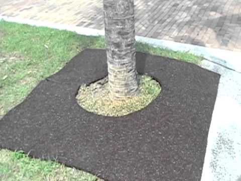6ft X 6ft Square Tree Ring Recycled Rubber Mulch Mat Youtube