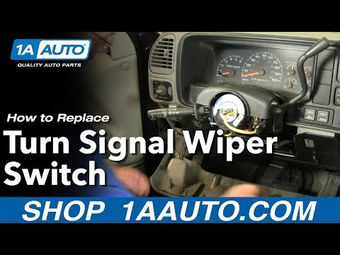 How To Install Replace PART 1 Turn Signal Wiper Switch Chevy GMC Pickup Truck 88-98 1AAuto.com