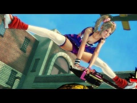 Геймплейный ролик сумасшедшей игры Lollipop Chainsaw.
