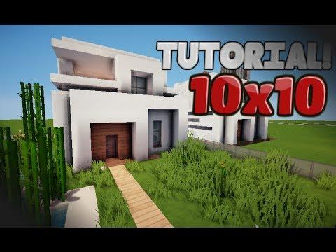 Minecraft como hacer una casa moderna 10x10 tutorial - Como aislar una casa ...