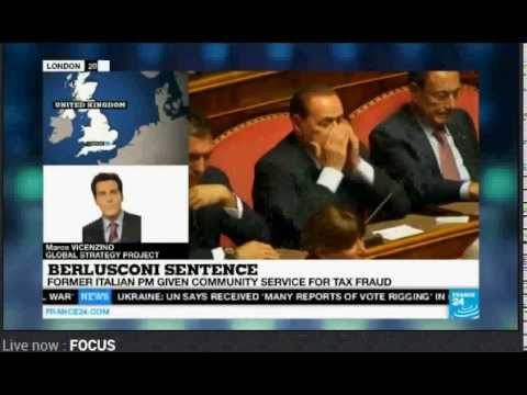 TV Interview: Italy's Berlusconi Sentenced