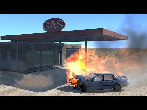 Gas Station Accidents | BeamNG.drive
