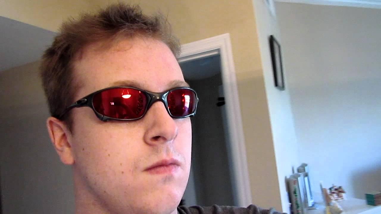 Oakley Juliet Carbon Frame With Ruby Quartz Cyclops Lenses