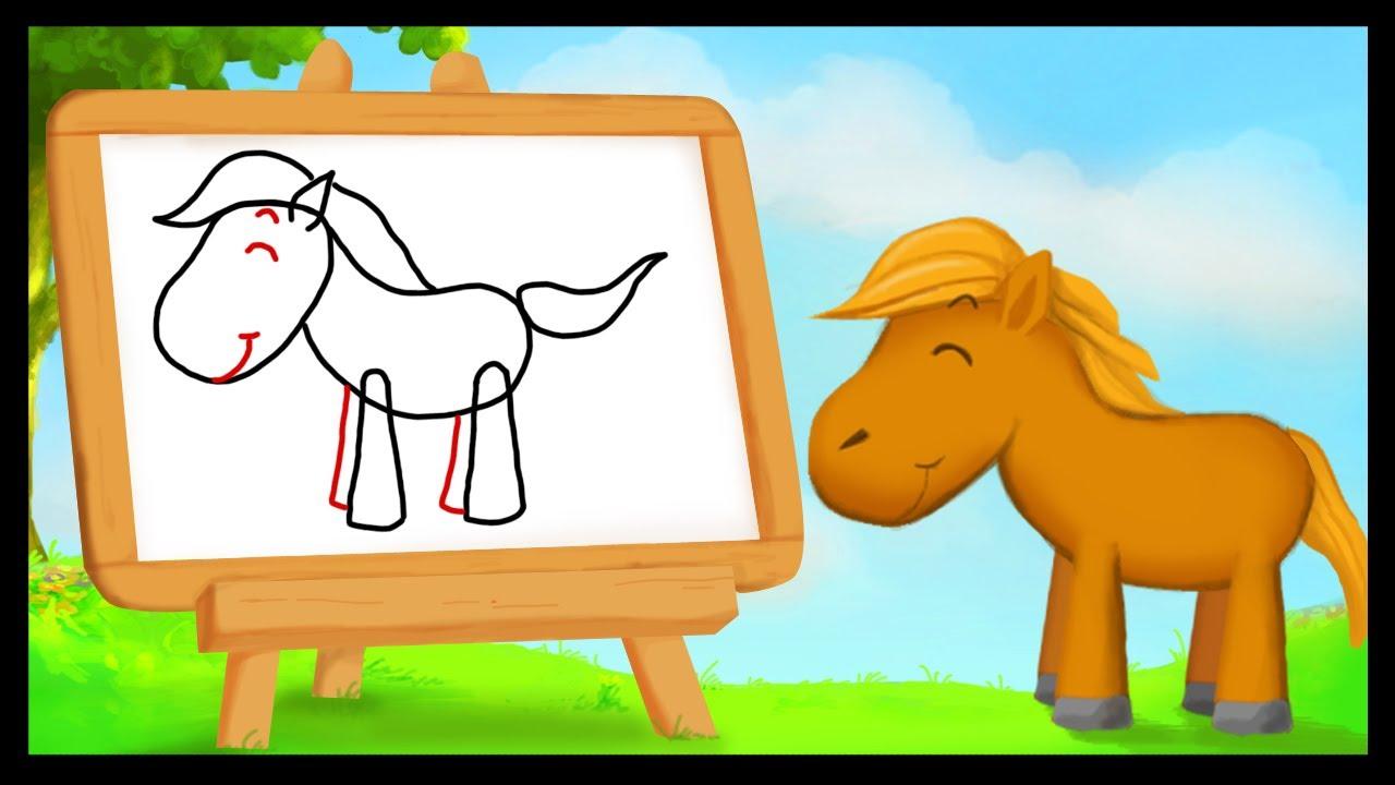 Comment dessiner un cheval youtube - Dessiner un cheval simple ...