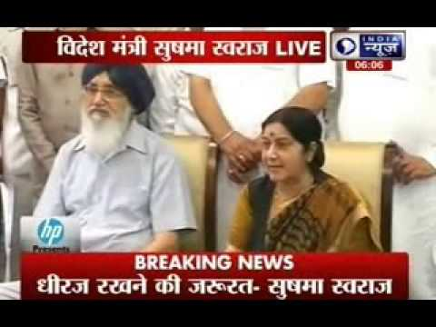 India doing its best to free Indians in Iraq: Sushma Swaraj