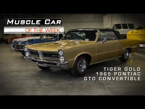 Muscle Car Of The Week Video #14: 1965 Pontiac GTO Convertible in Tige