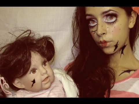 Halloween Makeup Cute Broken Doll, EFF