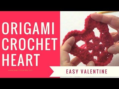 Origami Crochet Heart