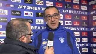 Empoli, Sarri: 'Non ci è mai mancata la fiducia'