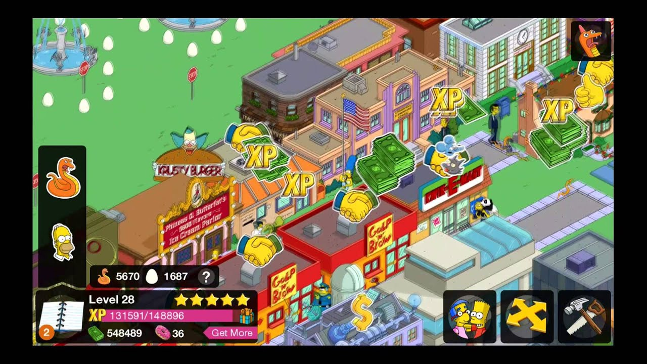 The Simpsons Tapped Out 12 Donuts and Fat Tony's Compound - YouTube