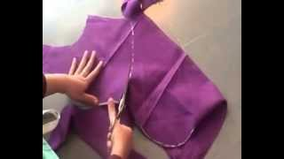 Blouse Cutting In Telugu By Using Old Blouse Part01