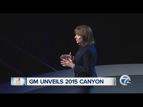 GM CEO Mary Barra unveils 2015 GMC Canyon