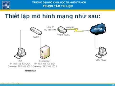 Thiết lập kết nối VPN với máy tính ở xa thông qua kết nối ADSL