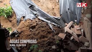 Barreira desliza e deixa criança e adolescente feridos em Olinda