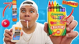 DIY Edible School Supplies!! Back to School Pranks *YOU CAN EAT*