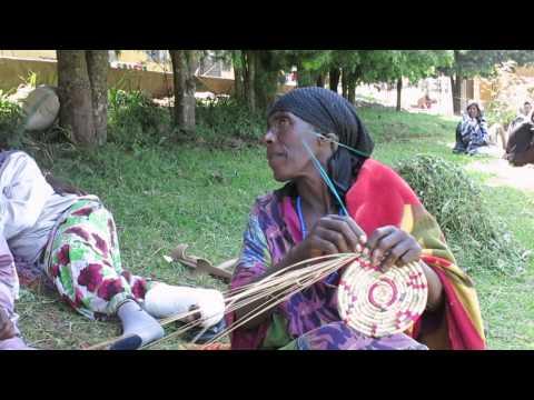 La artesanía de las mujeres con Lepra, Etiopía, hospital de Gambo