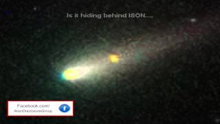 UFO Caught Behind Comet ISON 2013