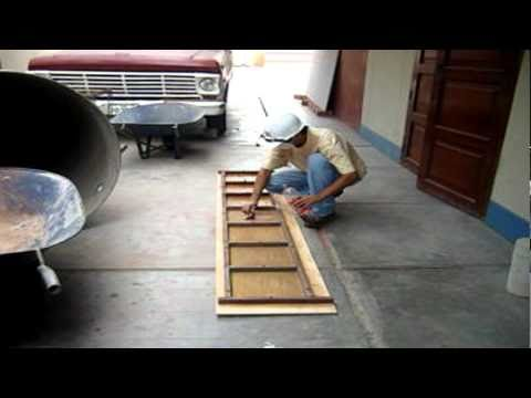 Molde artesanal de losetas youtube - Losetas de madera ...